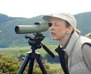 Jill Himonas, birding in Monterey Bay Area