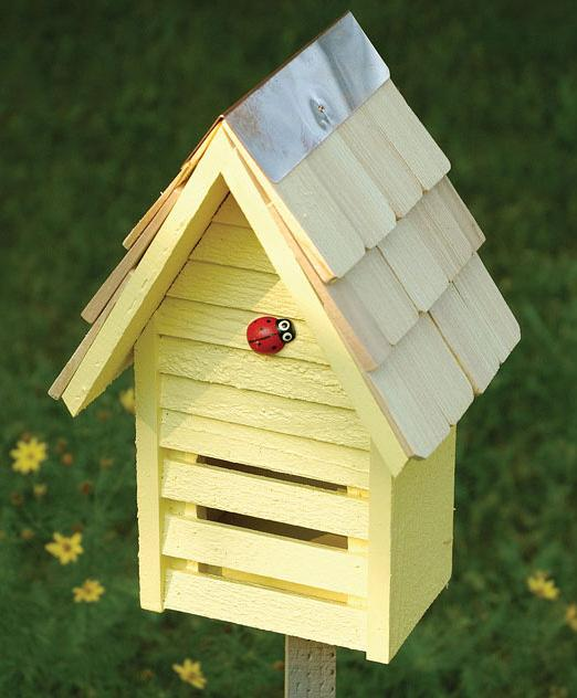 Ladybug House for your garden, at Wild Bird Haven, Monterey, California